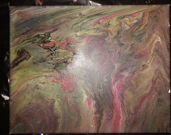 Pour painting dirty rainbow