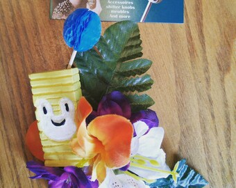 tropical hair flowers cocktail tiki
