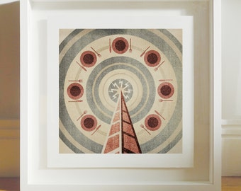 Radio Plates - Archival Giclee Print by Eoin Ryan