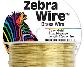 Artistic Wire - 24 gauge | Gold anti-tarnish coated copper - Sold per 20 yard roll | Use for fine wirework, wire knitting | High quality