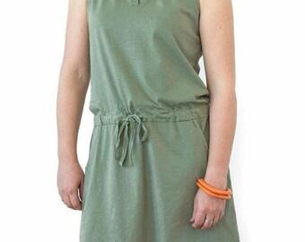 Short green dress, cotton dress, short green dress, casual dress, green dress, cotton dress, short green dress, summer dress