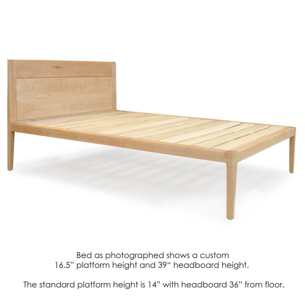 Maple Platform Bed No. 1 Modern Wood Bed Frame Twin Full