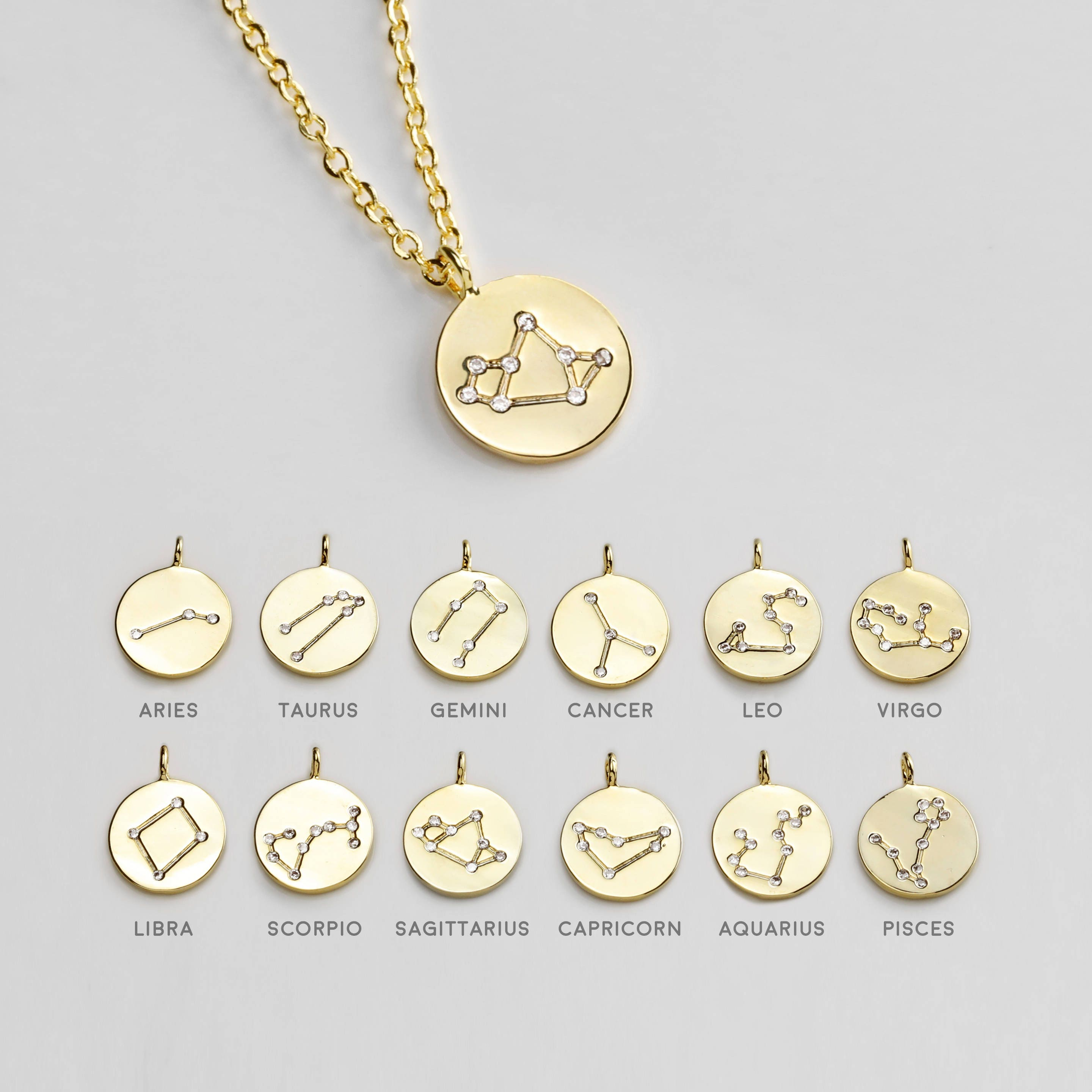 hi virgo zodiac res brand lucky small necklace