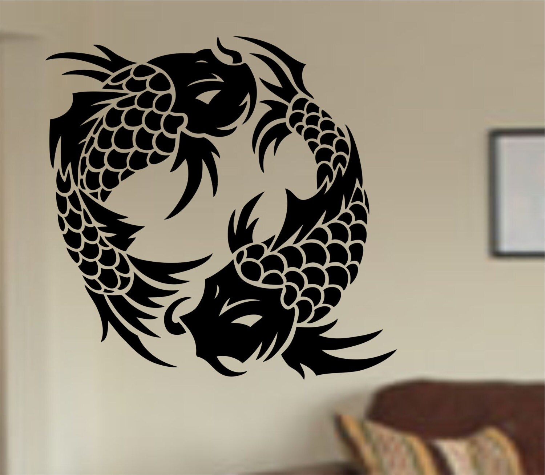 Koi Fish Wall Decal Sticker Art Decor Bedroom Design Mural