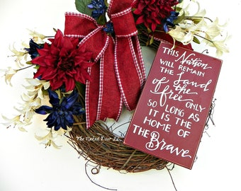 Patriotic Wreath - Patriotic Decor - Memorial Day Wreath - 4th of July - Fourth of July - Veterans Day - USA Wreath - Red White Blue Wreath