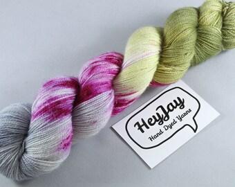 Hand Dyed Sock Yarn Superwash Merino/Nylon - Sprinkle of Sass