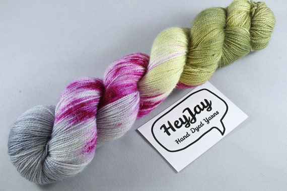 Hand Dyed Sock Yarn Superwash Merino/Nylon - Sprinkle of Sass