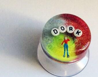 MADE TO ORDER - Art for Your Shower: Dork, Bathroom Decor, Birthday Gag Gift