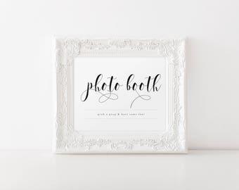 Printable Photo Booth Sign, Printable Wedding Sign, Photo Booth Sign, Grab a Prop Sign