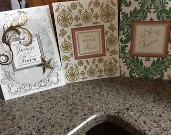 Set up seven Anna Griffin Christmas pop up cards