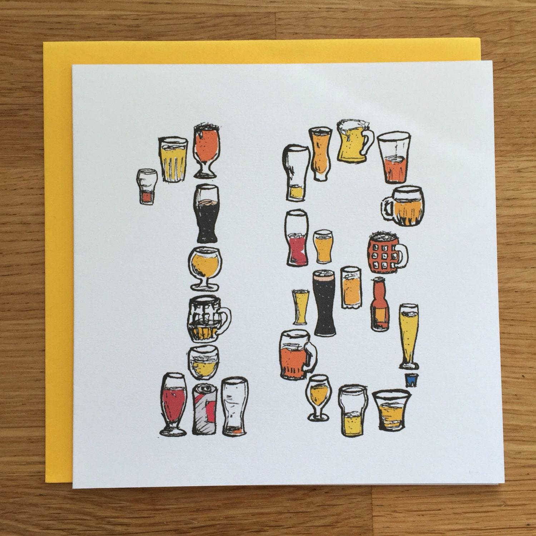 New 18th birthday card 18th card beer card eighteen EG21