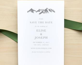 Wedding Save the Dates / Mountain Minimalist Suite / Classic, Minimalist, Outdoor Wedding / #1125