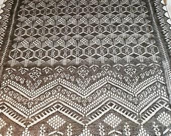 The Shetland Stars Shawl (Rectangle)(OUTLANDER) KNITTING PDF