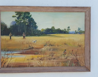 Landscape  Of  Hunters Oil On Canvas  Painting  By Ruth Vael.