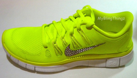 Nike Yellow Bling Free Run Shoes  b5a3f0f29452