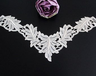Swiss embroidery: Lace Appliques ivory
