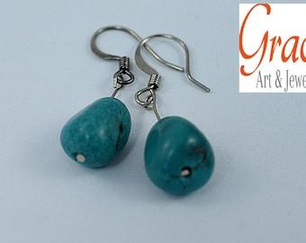Turquoise Earring, Dangle Earring, Jewellery Earring