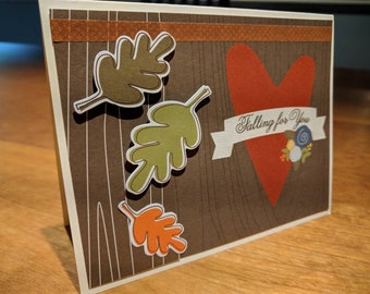 Handmade card: Falling for you