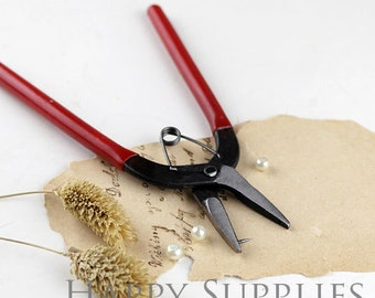 Jewelry Pliers, Hole Punch Pliers, Red, 155x85x11mm, Pin: 1mm (PT-S012-01)