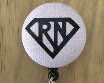 Super RN Nurse - Badge Reel