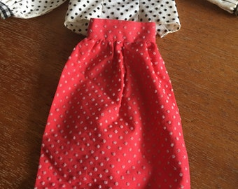 Vintage 1973 Barbie Best Buy  Dotted Swiss Skirt and Shirt Sold Separately #3203