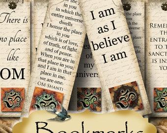 Medici•1.5 x5 Affirmation BOOKMARKS•Yoga Bookmark•DIY•Printable numérique Images•Gift Tags•Yoga tag•Meditation•Printable marque-page