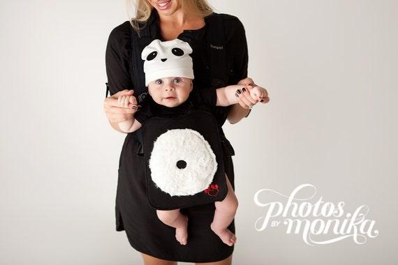 plush the panda bear baby carrier costume. Black Bedroom Furniture Sets. Home Design Ideas