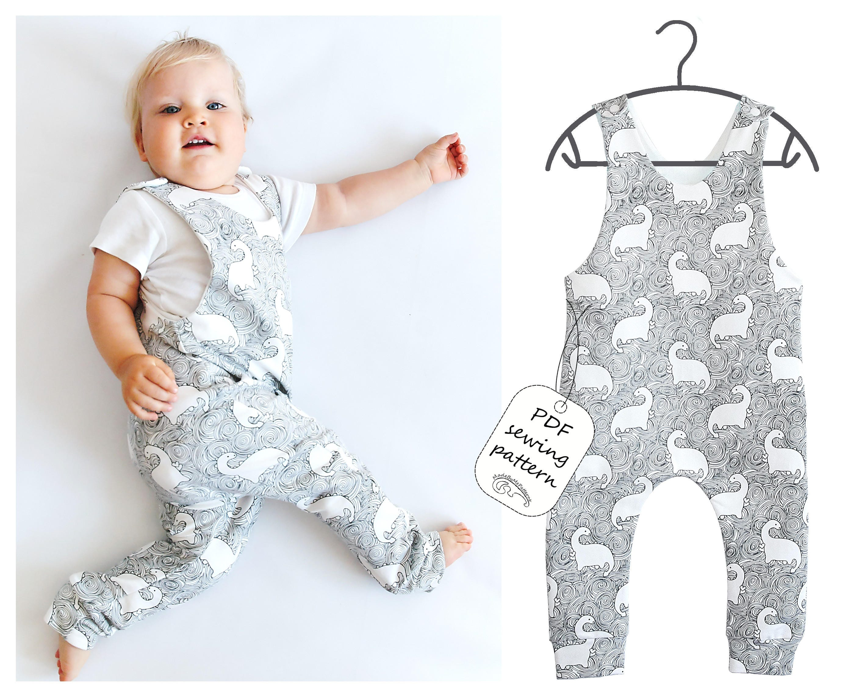 Romper Sewing Pattern PDF, baby romper pattern PDF, kids romper ...