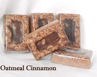 Oatmeal Cinnamon Soap Scrub Bar