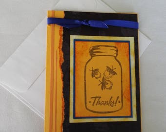 Firefly Thank You Card