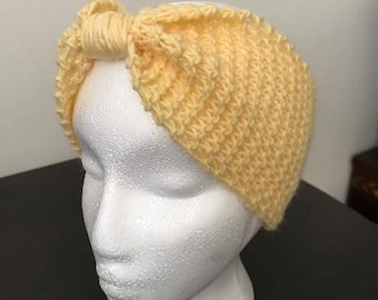 Hand-Knit Knitted Headband