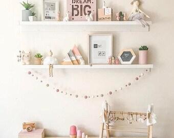 Felt ball garland, custom made- nursery decor