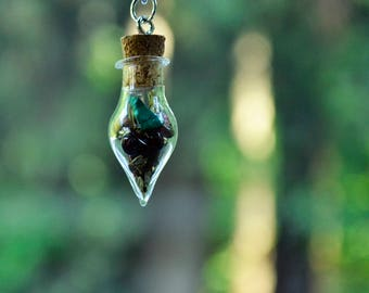 Travel Protection Spell Bottle Rear-view Mirror Charm- Witchcraft, Magick, Spell, Safety, Car