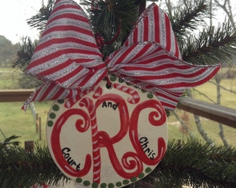 Custom Monogram Ornament