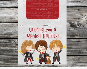 Printable Gift Card Holder, Instant Download, Harry Potter, Harry Potter Gift, Harry Potter Birthday Present, Target Gift Card Holder