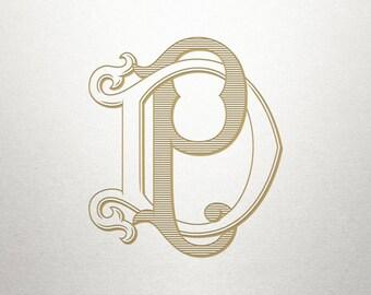 Custom Bridal Monogram - DP PD - Bridal Monogram - Vintage
