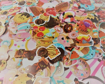 Sale 30 Pc Zipper Seal Sweet Donuts Chocolate, Cake Bag Sticker flakes Snail mail, cards, gifts, planners, photos, cell phones, scrapbooking