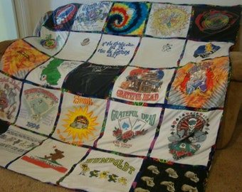 Custom T Shirt Blanket filled with your MEMORIES - unlimited shirts & size (payments accepted) with border