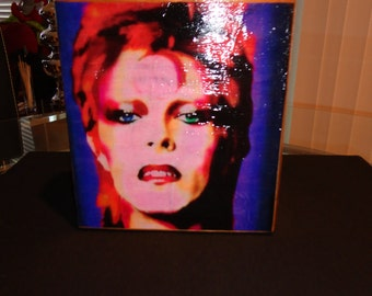 Bowie Inspired Cigar Box Purse