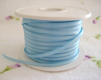 "1/8"" Baby Blue Satin Ribbon for Crafting, Tags, Baby Shower, Party Favors, Scrapbooking, 10 yards"