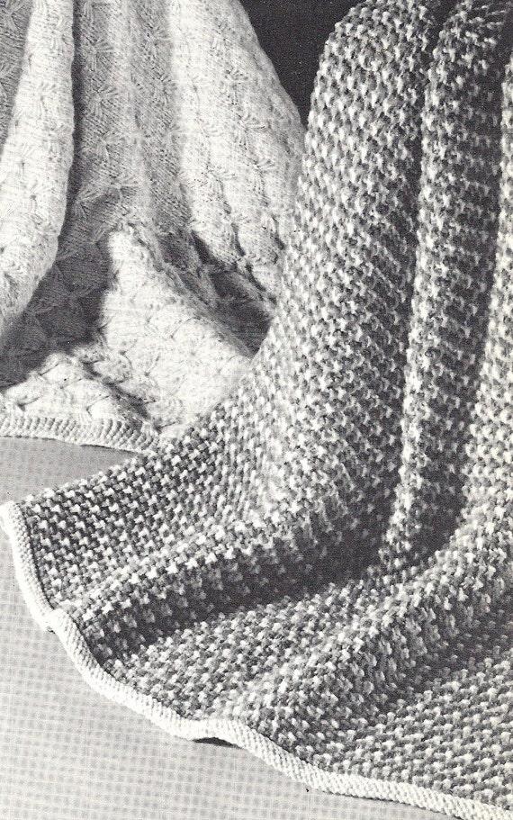 Vintage Pattern, Tweed-Knit Coverlet, Baby Blanket,Pram Cover, Cot ...