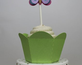 3D Butterfly Cupcake Topper - 12