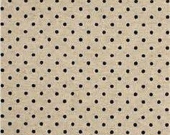 Fabric Sevenberries Natural and Blue Small Dot Canvas Cotton/Flax