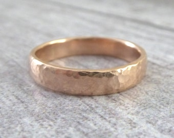 Rose Gold Wedding Band - 4mm