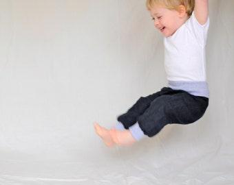 Toddler pants organic denim, boys baggy pants, baby denim pants, jeans pants,  toddler boy organic clothes