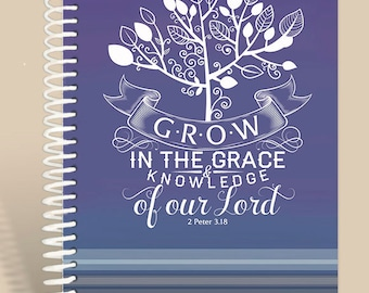 Grow in Grace Prayer Journal / Personalized Prayer Journal / 2 Peter 3:18