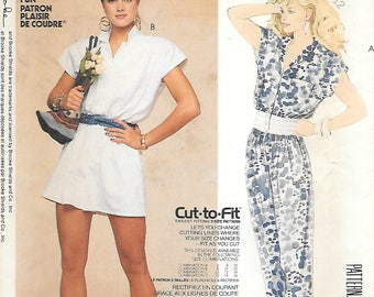 "McCalls 2391 UNCUT 1980s Romper and Jumpsuit Vintage Sewing Pattern Bust 32-34 ""Cut to Fit"""