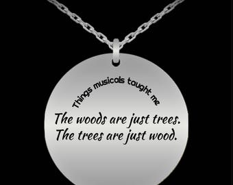 Statement Necklace | Theatre Gifts | Theatre Jewelry | Into the Woods Theatre Necklace | Musical Theatre | Charm Necklace