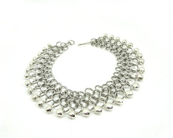 Belly Dance Jingly Anklet - Chainmaille Anklet With Bells