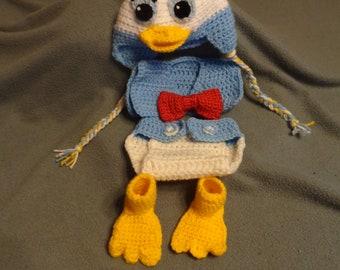 Boy Duck Photo Prop set.